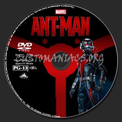 Ant-Man dvd label