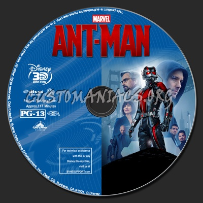Ant-Man (2D+3D) blu-ray label
