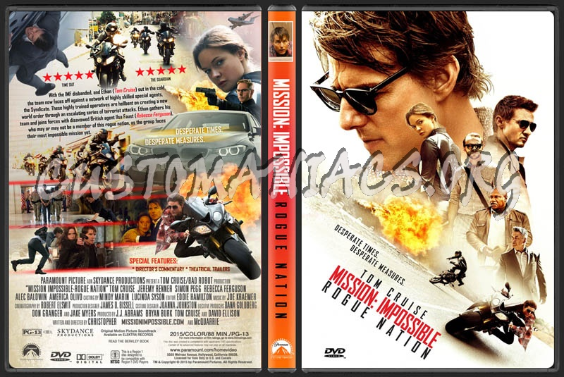 Mission Impossible - Rogue Nation dvd cover - DVD Covers