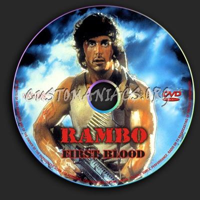 Rambo - First Blood dvd label