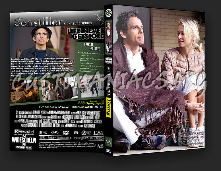 While We're Young dvd cover