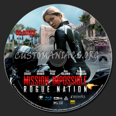 Mission Impossible: Rogue Nation blu-ray label