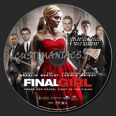 Final Girl (2015) blu-ray label