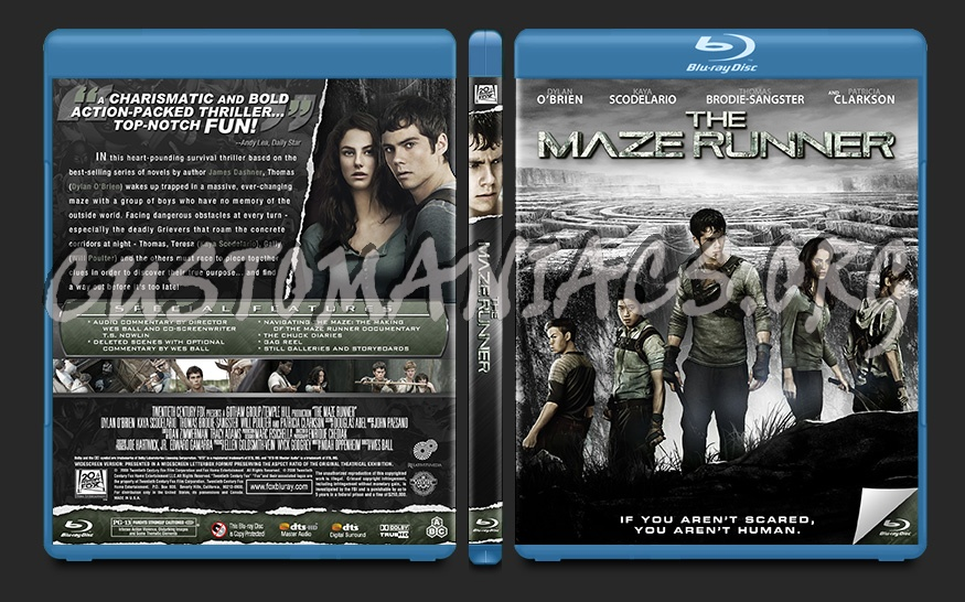 The Maze Runner blu-ray cover