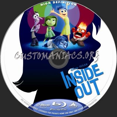 inside out blu ray label dvd covers labels by customaniacs id 228103 free download highres. Black Bedroom Furniture Sets. Home Design Ideas