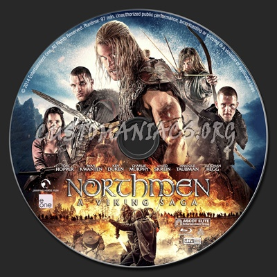 Northmen: A Viking Saga blu-ray label