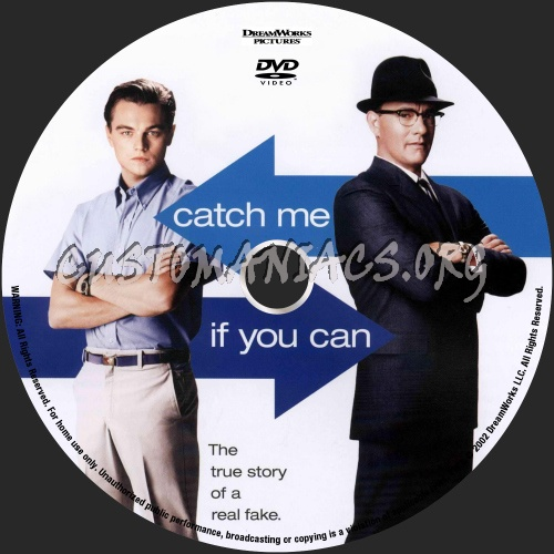Catch Me If You Can dvd label