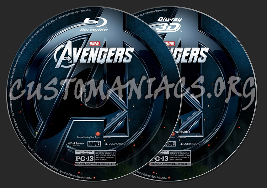 Avengers, The (2D/3D) blu-ray label
