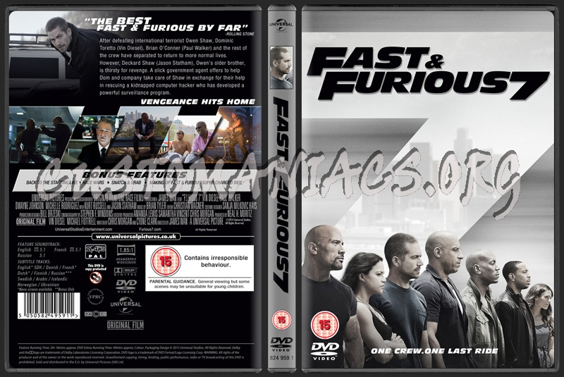 dvd covers labels by customaniacs view single post fast furious 7. Black Bedroom Furniture Sets. Home Design Ideas