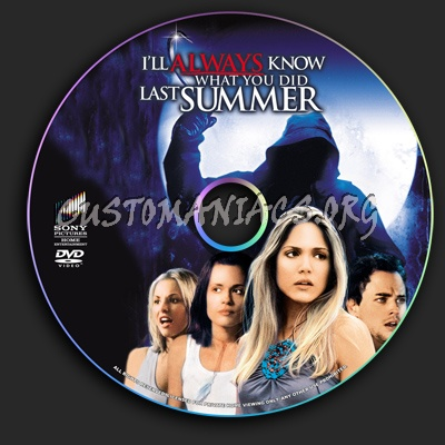 I'll Always Know What You Did Last Summer dvd label