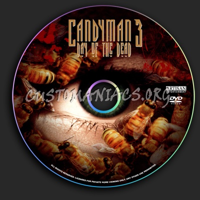 Candyman 3: Day of the Dead dvd label