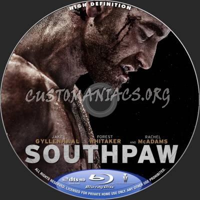 Southpaw blu-ray label