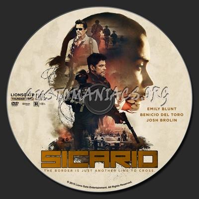 Sicario dvd label