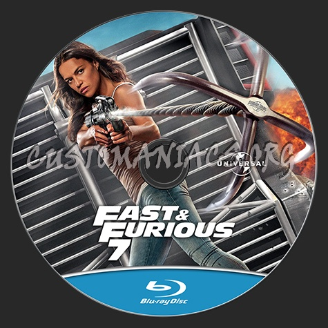 fast and the furious 7 blu ray label dvd covers labels by customaniacs id 228461 free. Black Bedroom Furniture Sets. Home Design Ideas