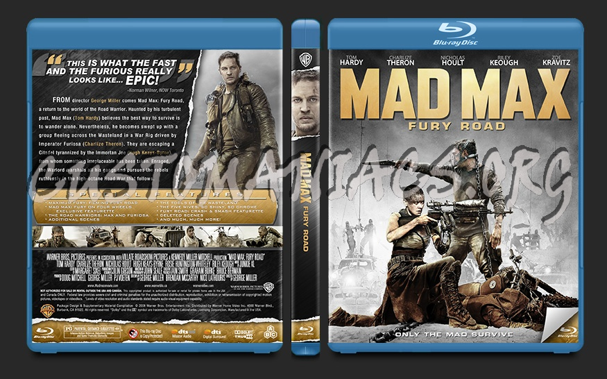 Mad Max: Fury Road blu-ray cover