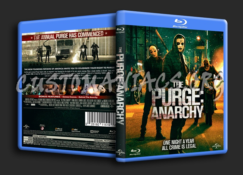The Purge Anarchy blu-ray cover