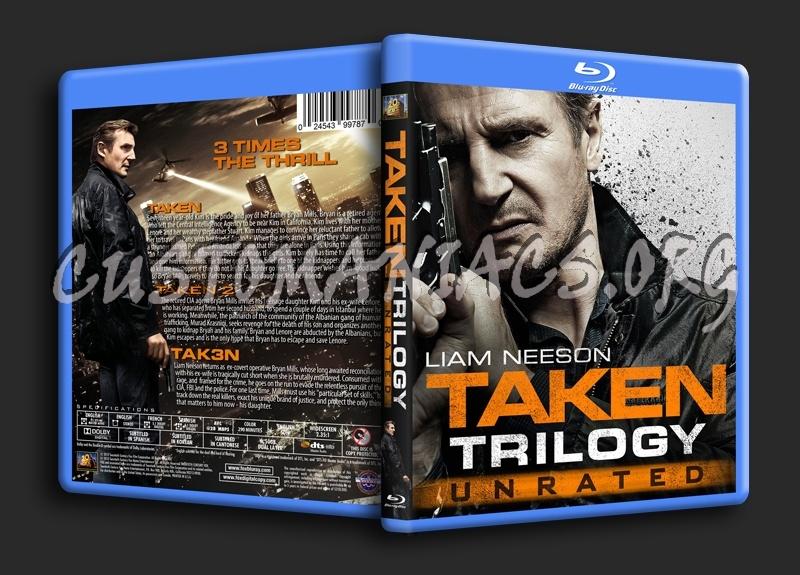 Taken Trilogy blu-ray cover