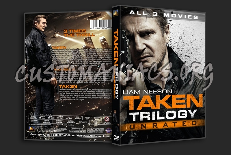 Taken Trilogy dvd cover