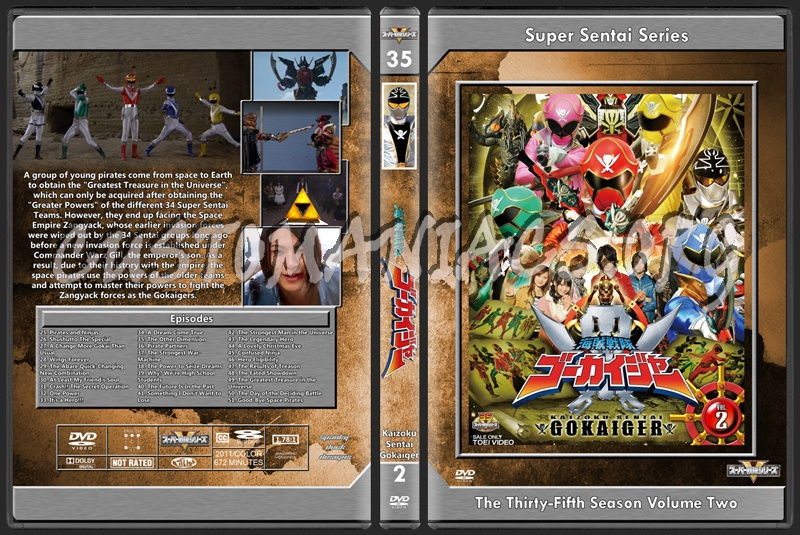 Gokaiger Volume 2 dvd cover