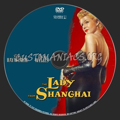The Lady From Shanghai dvd label