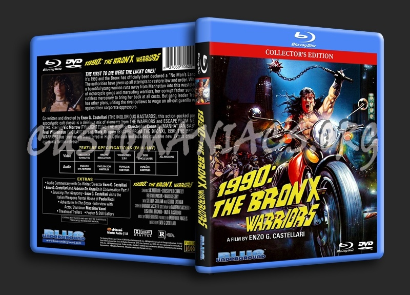 1990: The Bronx Warriors blu-ray cover