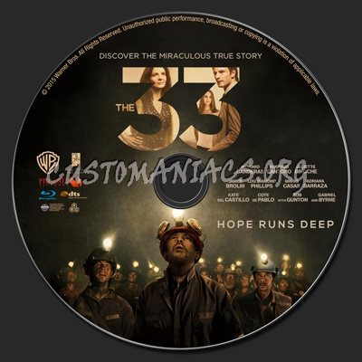 The 33 blu-ray label