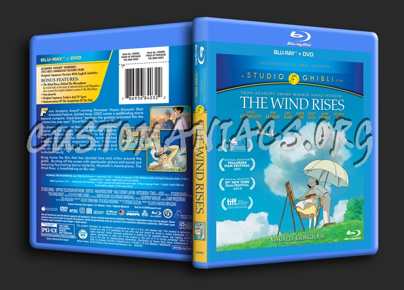 The Wind Rises blu-ray cover