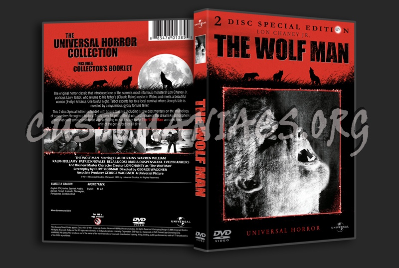 The Wolf Man (1941) dvd cover