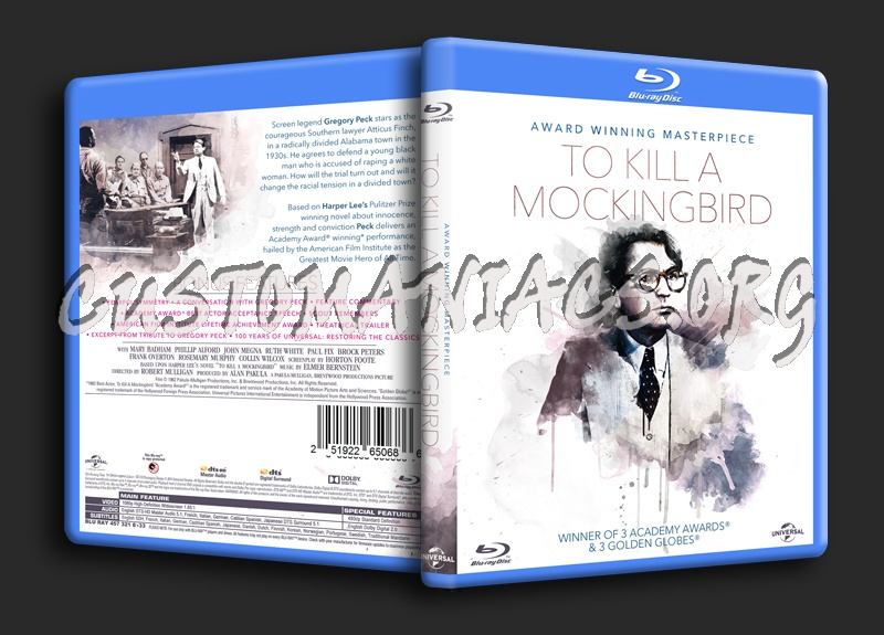 To Kill A Mockingbird blu-ray cover