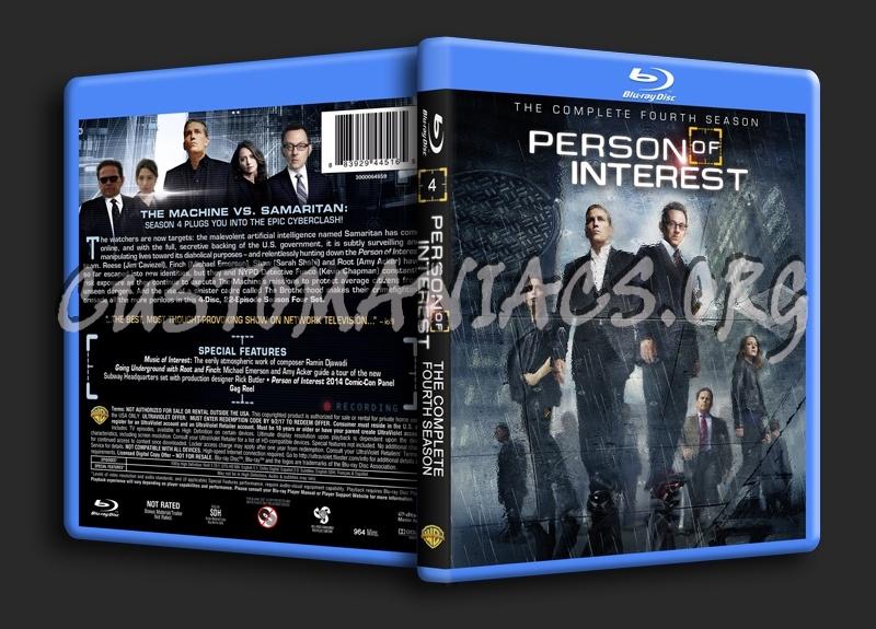Person of Interest Season 4 blu-ray cover