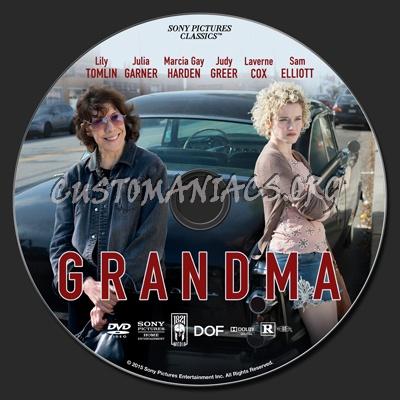 Grandma dvd label