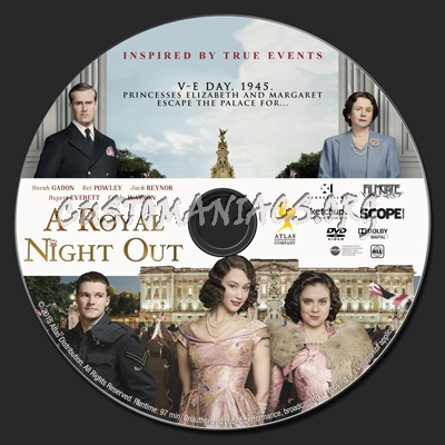 A Royal Night Out dvd label