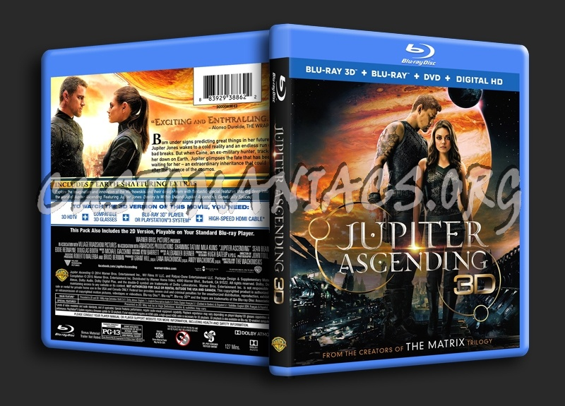 Jupiter Ascending 3D blu-ray cover