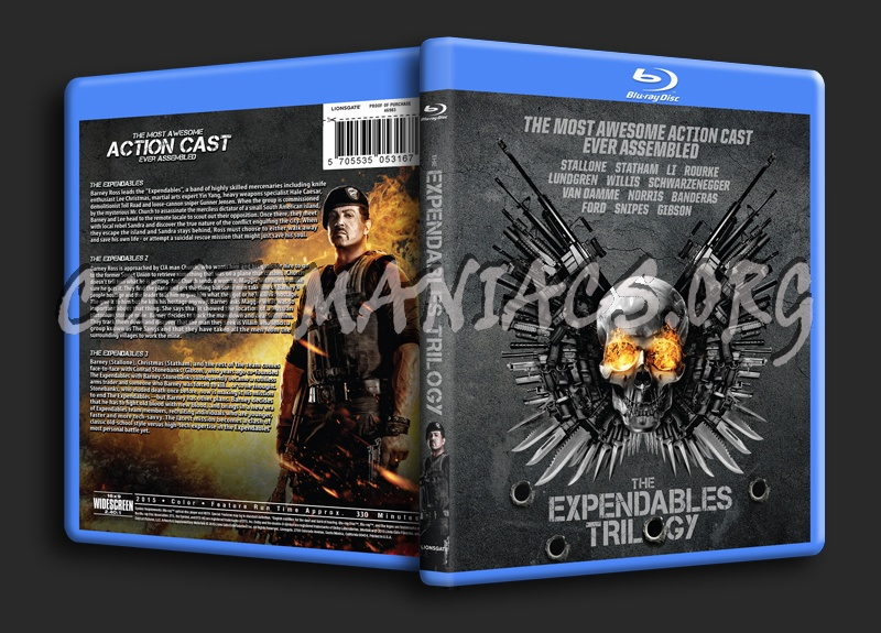 The Expendables Trilogy blu-ray cover