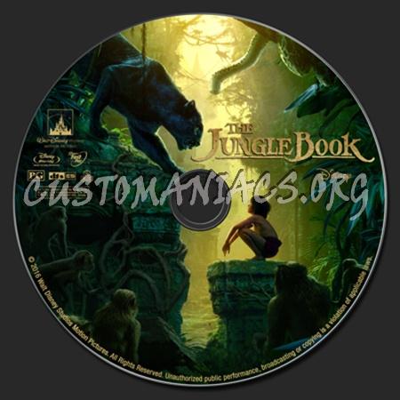 The Jungle Book (2016) blu-ray label