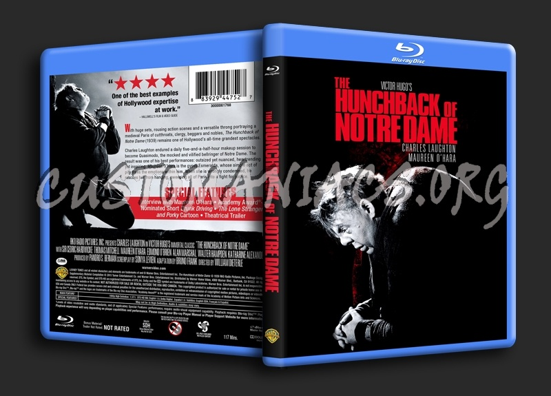 The Hunchback of Notre Dame (1939) blu-ray cover