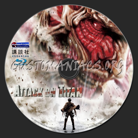 Attack on Titan blu-ray label