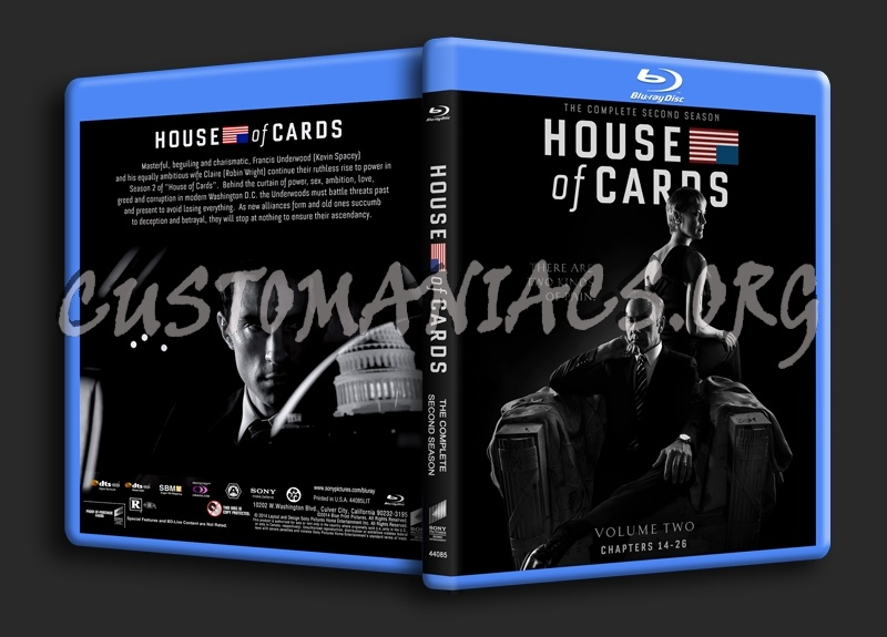House of Cards Season 2 blu-ray cover
