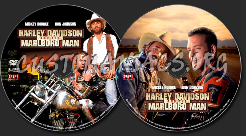 Harley Davidson and the Marlboro Man (1991) dvd label