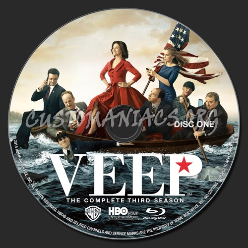 Veep Season 3 blu-ray label