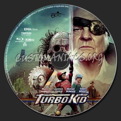 Turbo Kid blu-ray label