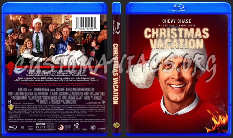 national lampoons christmas vacation blu ray cover