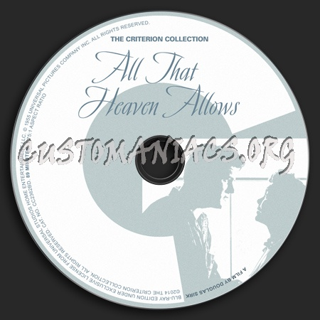095 - All That Heaven Allows dvd label