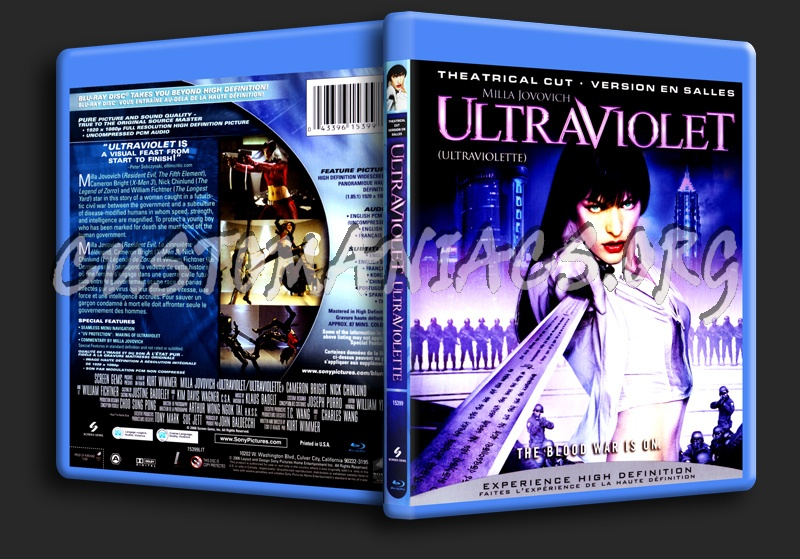 Ultraviolet blu-ray cover