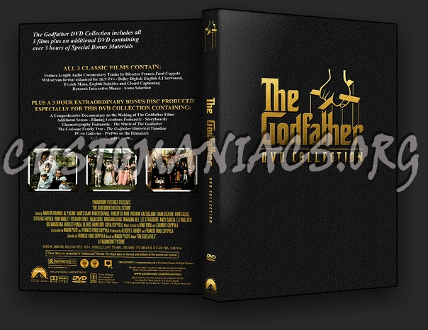 The Godfather Trilogy dvd cover