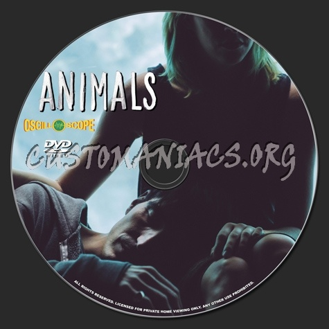 Animals dvd label