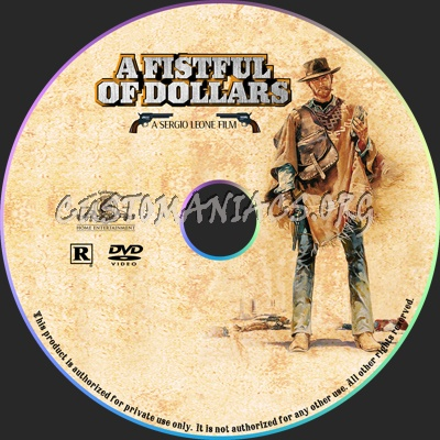 A Fistful Of Dollars dvd label