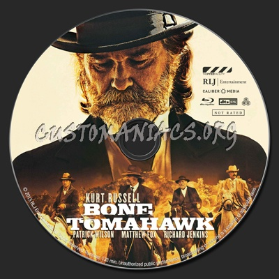 Bone Tomahawk blu-ray label