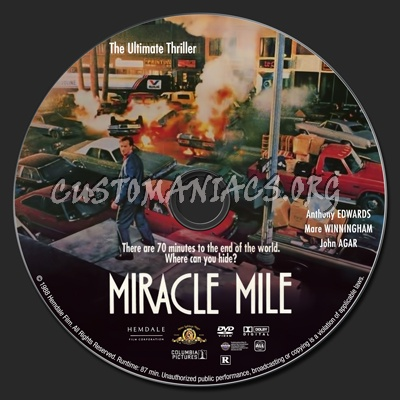 Miracle Mile dvd label
