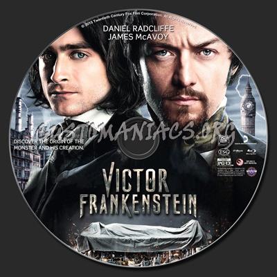 Victor Frankenstein blu-ray label